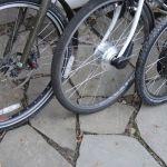 Poppa bike, momma bike, kid bike and baby bike.