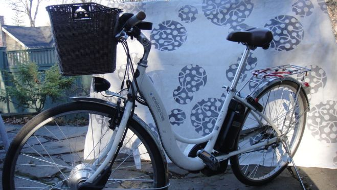 """My wife's bike is a Sanyo Eneloop we purchased used for $1,500. She named it """"Zippy"""". The previous owner purchased it for over $2,000 from NYCE Wheels. (At 350 miles away, NYCE Wheels is the closest ebike store that I know of.) Zippy is a highly reliable bike compared to my bikes, which are constantly breaking down and in flux as I experiment with them. Besides the reliability, the most important feature for her is the chain guard which is necessary because she bikes to work in her nice work clothes."""