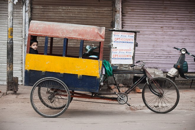 Here's a bicycle school bus.