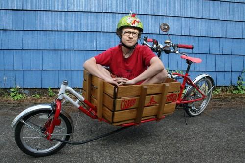 Kael's cargo bike.