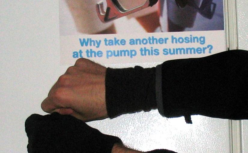 DIY sleeve extender for winter bike commuting