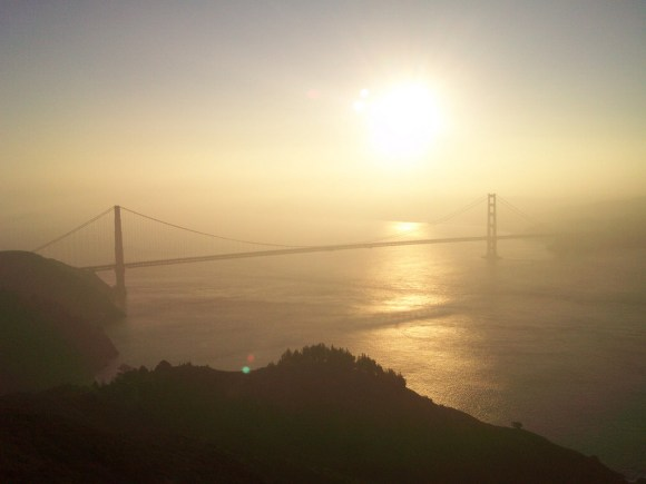 Sunrise over the Golden Gate Bridge