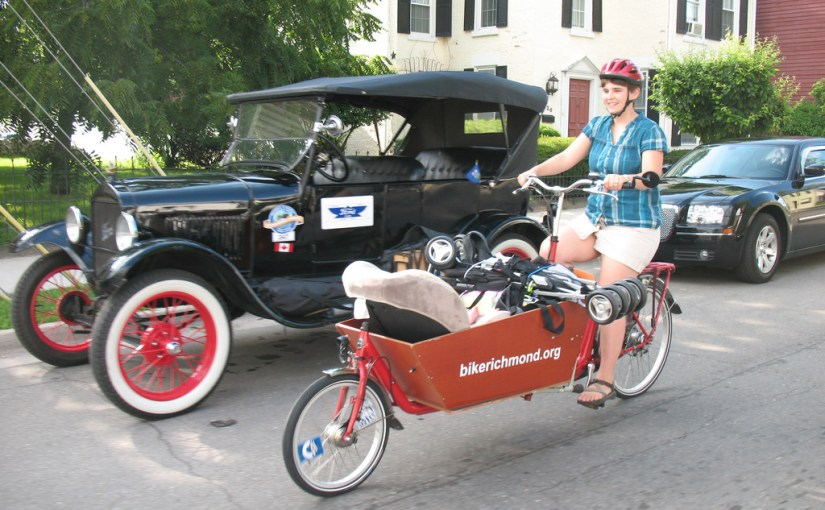 bakfiets, car seat, stoller and Model T