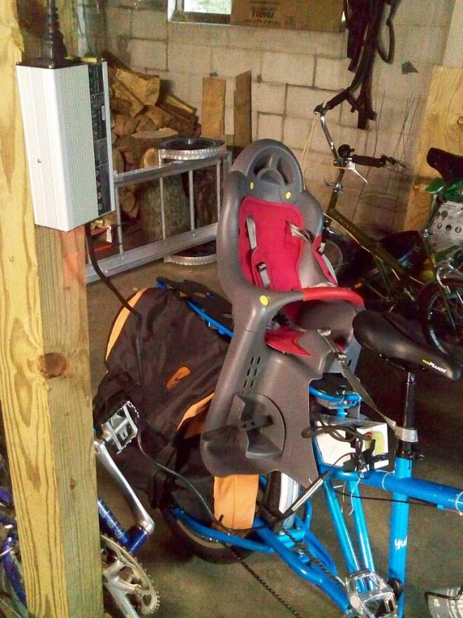 electric cargo bike charging station