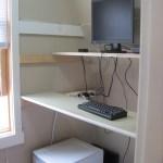 Half of closet converting to standing desk