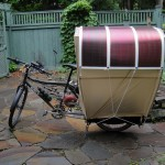 Solar-powered bike wagon.