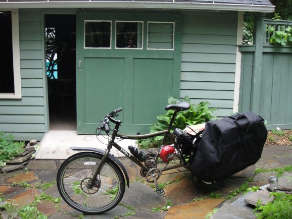 Guess what is in this 50-pound monster pannier.