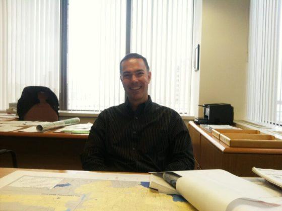 Brian Genovese in his corner office.