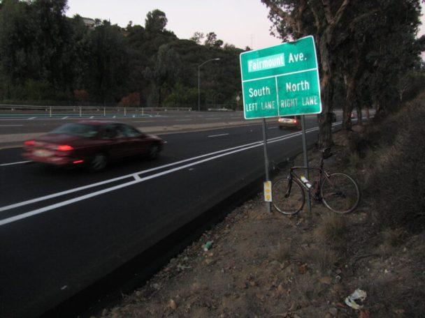 New bike lanes on the north side of Montezuma Road. Photo by Robert Craddick