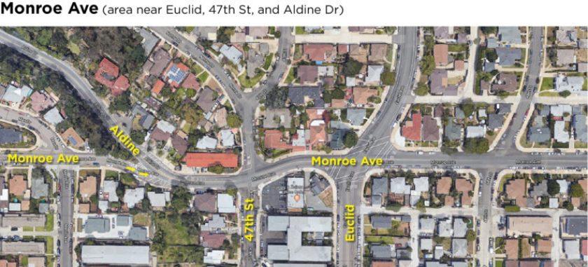 Monroe Ave map