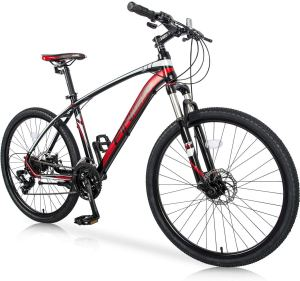 Merax 26 Mountain Bicycle with Suspension Fork 24-Speed Mountain Bike with Disc Brake, Lightweight Aluminum Frame