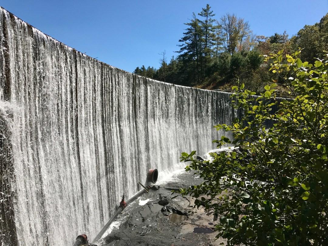 Lake Sequoyah Dam Falls, Highlands, NC