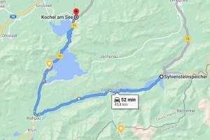 Karte Sylvenstein Walchensee