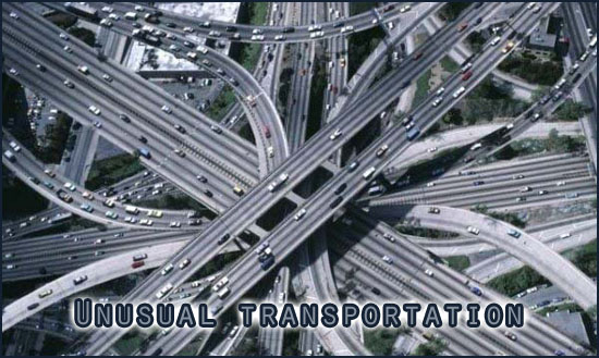 Big snarl of freeways overlapping one another.
