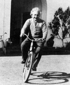 Albert-Einstein-Rides-a-Bike