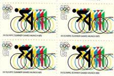 Olympic bike stamp, Munich games, 1972