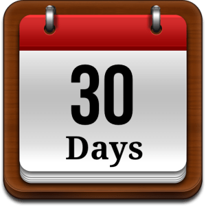 Calendar page showing 30 Days