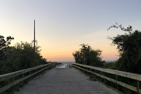 Sunrise-Coast Guard Station-Boardwalk - StSimonsIsland