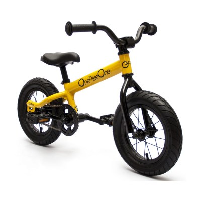 Bicicleta de aprendizaje 'Ludica' color amarillo solar con pedales