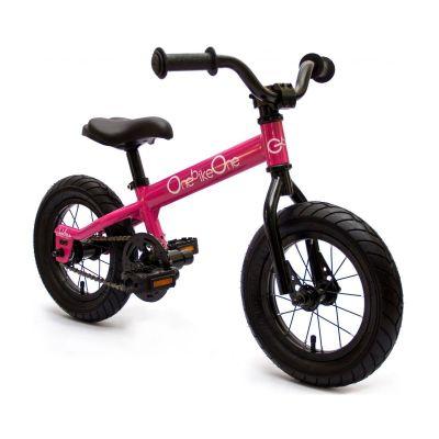 Bicicleta de aprendizaje 'Ludica' color rosado neón