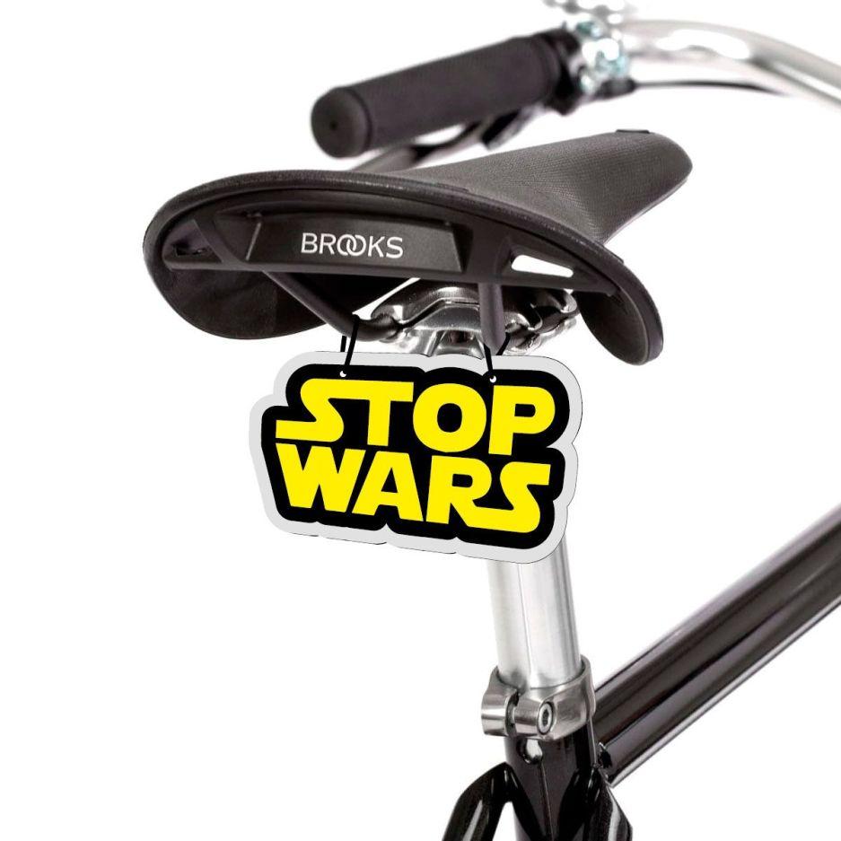 Placa bicicleta Stop Wars