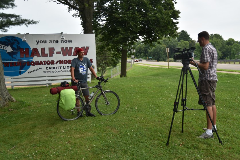 ...and was interviewed by WEAU, the local Eau Claire TV station