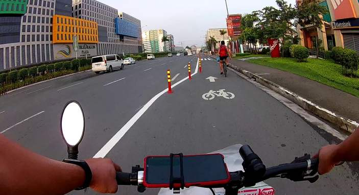 New quick build bike lanes being built and looking wide and safe in manila.