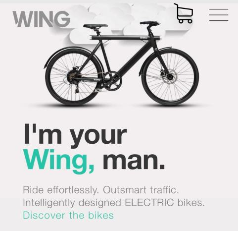 An add for an electric bike, the wing