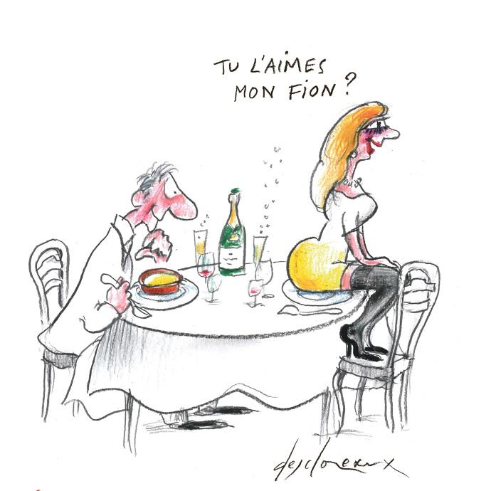 Caricature du Fion
