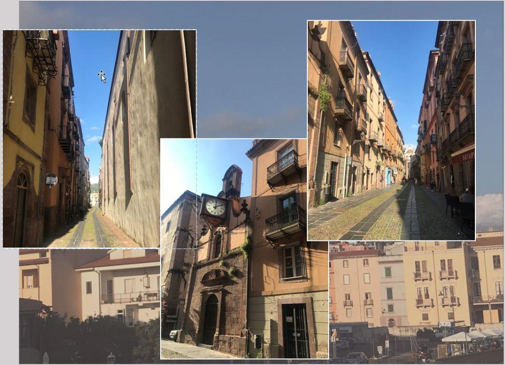 les ruelles de la ville de bosa en sardaigne