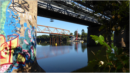 Victoria Bridge and the new footbridge
