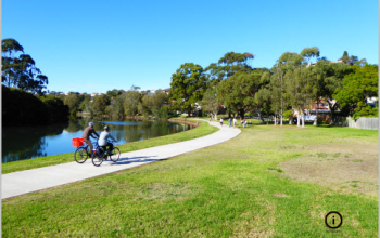 Cooks River Trail and nearby tracks