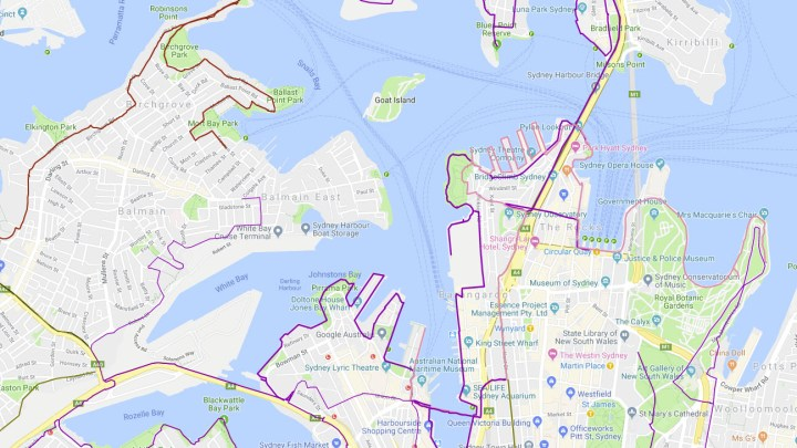The Sydney Google BikeTrail map is now complete **
