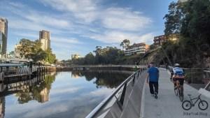 Parramatta City Waterfront near the wharf