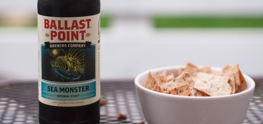 Ballast Point Sea Monster Bottle and Crackers