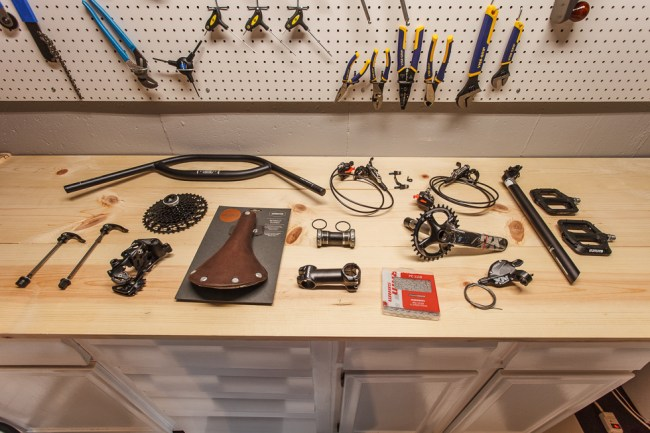 Components for Surly Ogre Build Ready to Be Installed