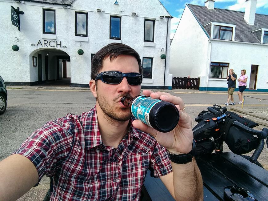 Celebratory Beer in Ullapool