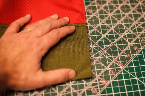 Folding the main pocket