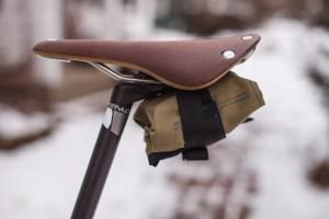 Tool Roll on Brooks Saddle - Side