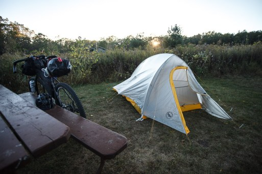 Setting up my Overnighter in Blue Mounds