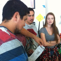 CSUCI Student A Reviewing flyer