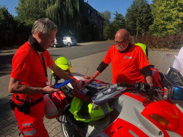 Johanniter-Motorrad und seine Ausstattung