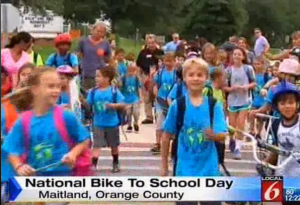 bike to school wkmg Screen Shot