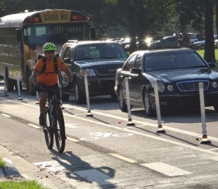 Bicyclists, runners take advantage of Winter Park's first-ever cycle track