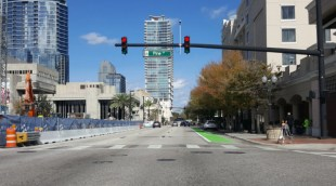 Downtown Orlando bike lanes go green