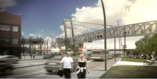 Colonial Pedestrian Overpass is on the rise