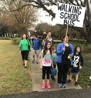Audubon Park Walking School Bus gets kids moving, alert and ready to learn