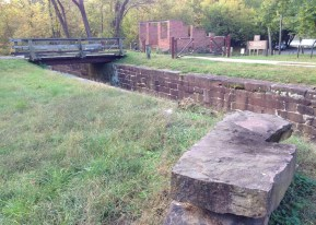 Mile 30.9: The lock and ruins at Edwards Ferry mark the halfway point between Harpers Ferry and home.