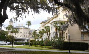 The Jekyll Island Club is the heart of the historic district, which preserves the grounds and buildings of the once-exclusive resort.