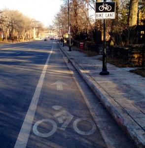 New bike lanes on Cleaver II Boulevard